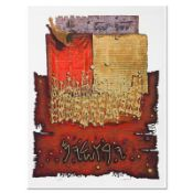 "Moshe Castel, ""Shofar above Lion's Gate"" Limited Edition Gold Embossed Serigraph"