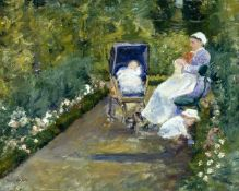 Cassatt - Children in the Garden with Nanny