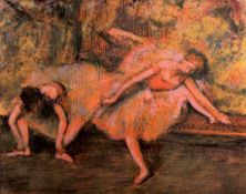 Edgar Degas - Two Dancers On A Bank