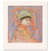 """Boy with Turban"" Limited Edition Lithograph by Edna Hibel (1917-2014), Numbered"