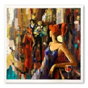 """Nelly Panto, """"Waiting for You"""" Hand Signed Limited Edition Serigraph on Paper wi"""