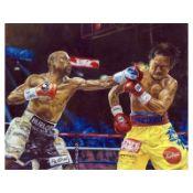 "Turchinsky Dimitry, ""Mayweather Vs Pacquiao"" Hand Signed Mixed Media on Canvas w"