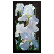 "Brian Davis, ""Enchanting Irises"" Limited Edition Giclee on Canvas (18"" x 36""), N"