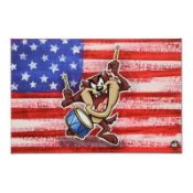 "Looney Tunes, ""Patriotic Series: Taz"" Numbered Limited Edition on Canvas with CO"