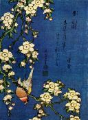 Hokusai - Bullfinch and Drooping Cherry