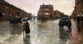 Childe Hassam - Rainy Day in Boston