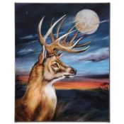"""White Tail Moon"" Limited Edition Giclee on Canvas by Martin Katon, Numbered and"