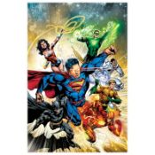 "DC Comics, ""Justice League #2"" Numbered Limited Edition Giclee on Canvas by Ivan"