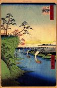 Hiroshige - View of Konodai and the Tone River