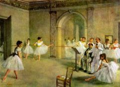 Edgar Degas - Hall Of The Opera Ballet In The Rue Peletier