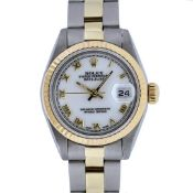 Rolex Ladies 2T Yellow Gold & Stainless Steel White Roman 26MM Datejust
