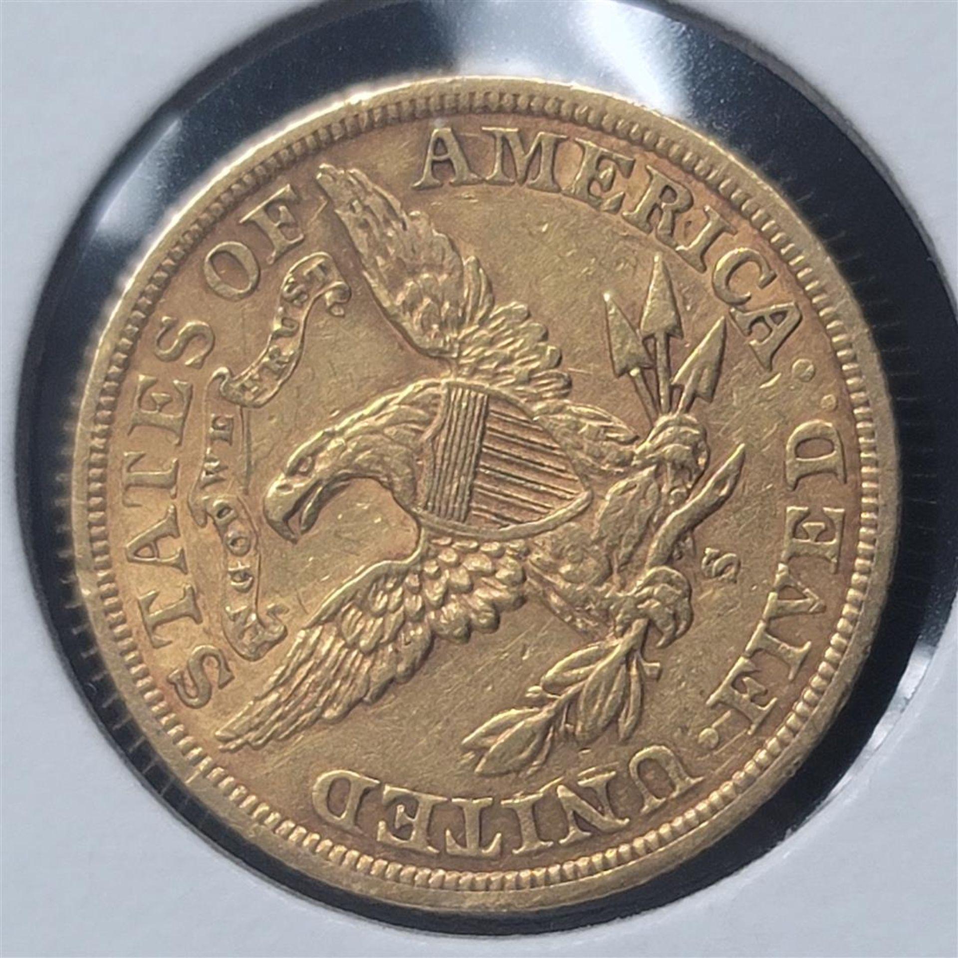 1903-S $5 Liberty Head Half Eagle AU - Image 3 of 4
