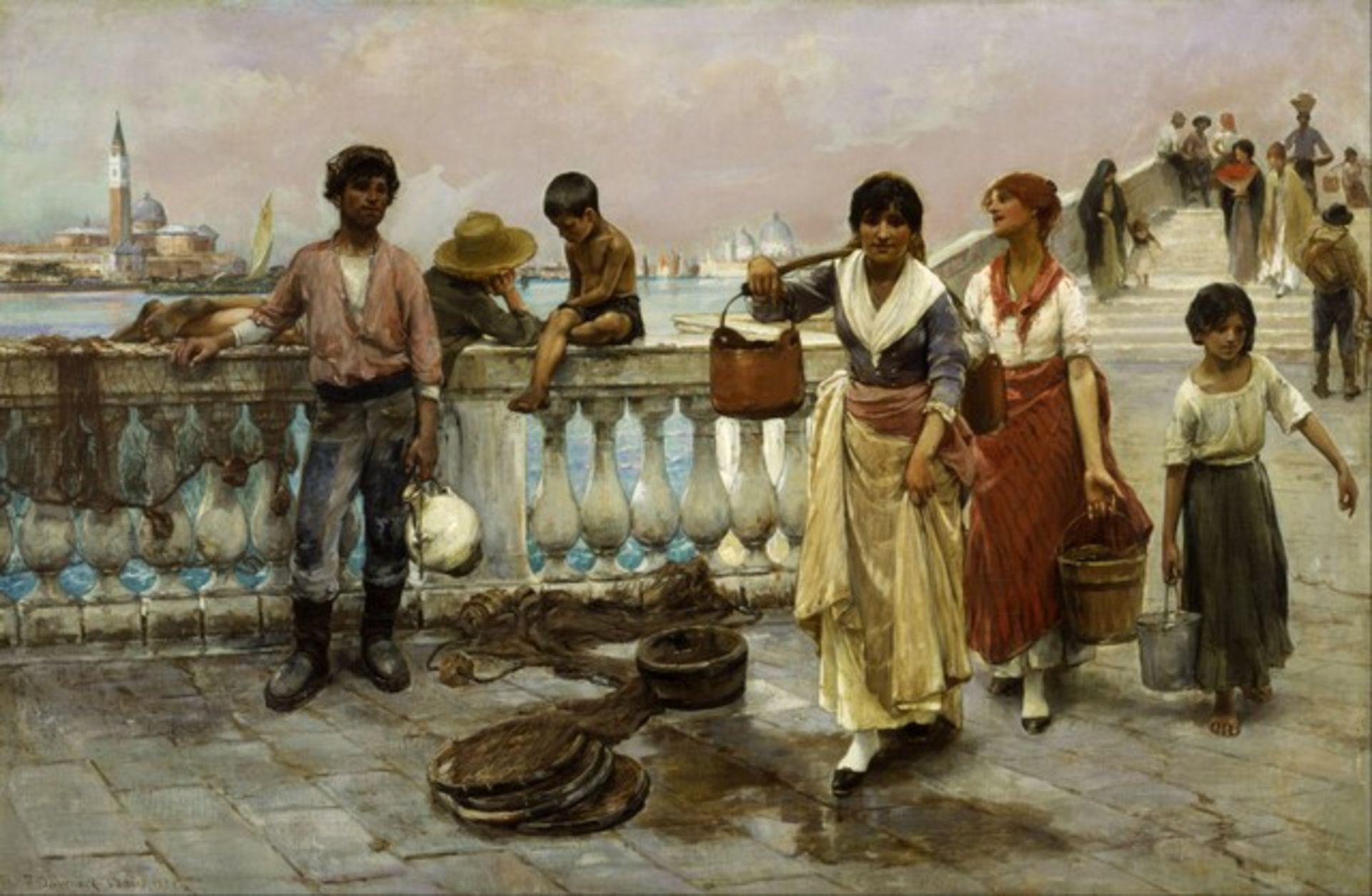 Frank Duveneck - Water Carriers, Venice - Image 2 of 2