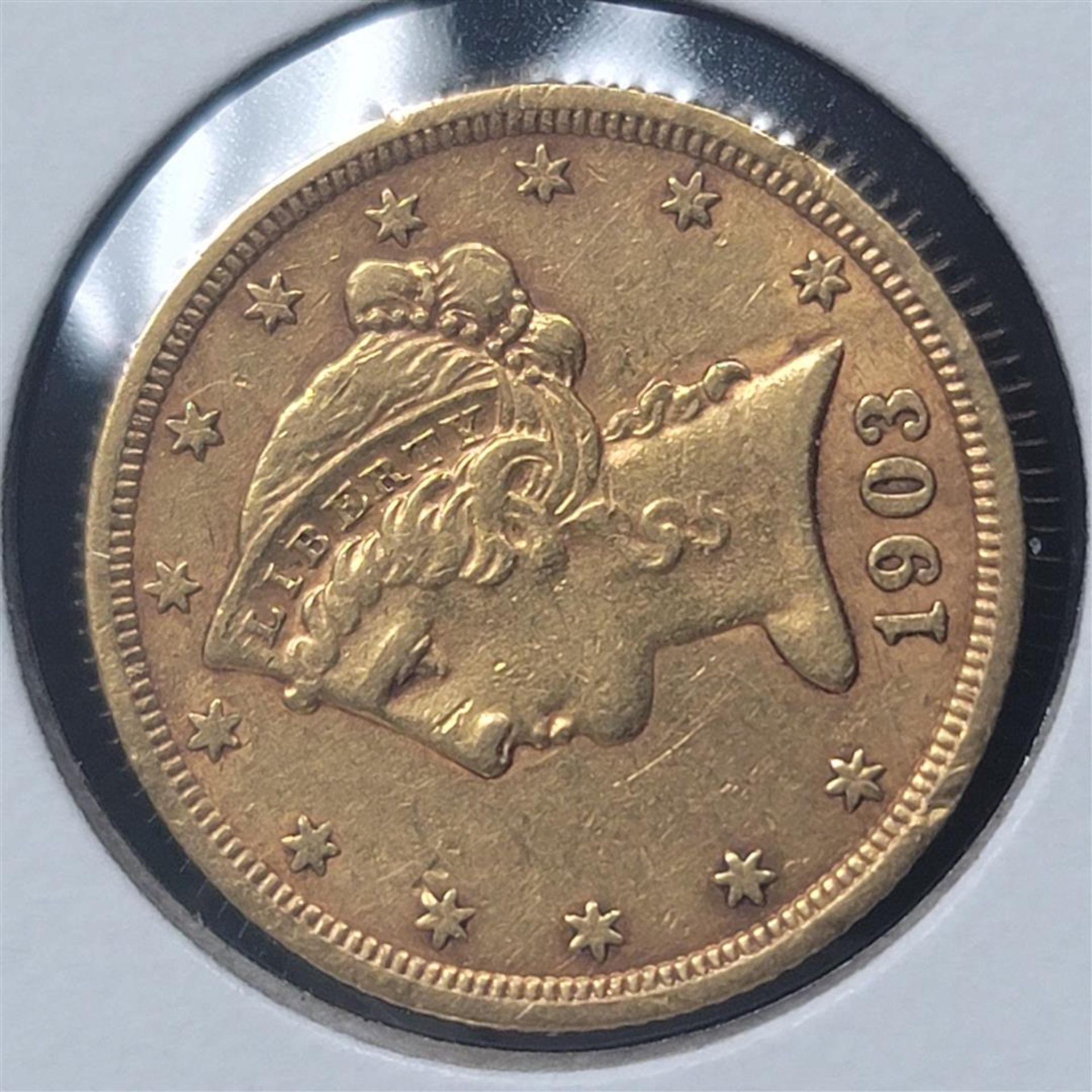 1903-S $5 Liberty Head Half Eagle AU - Image 2 of 4