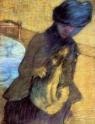 Edgar Degas - Mary Cassatt With Her Dog