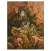 Summer Retreat - Gray Wolves by Fanning (1938-2014)