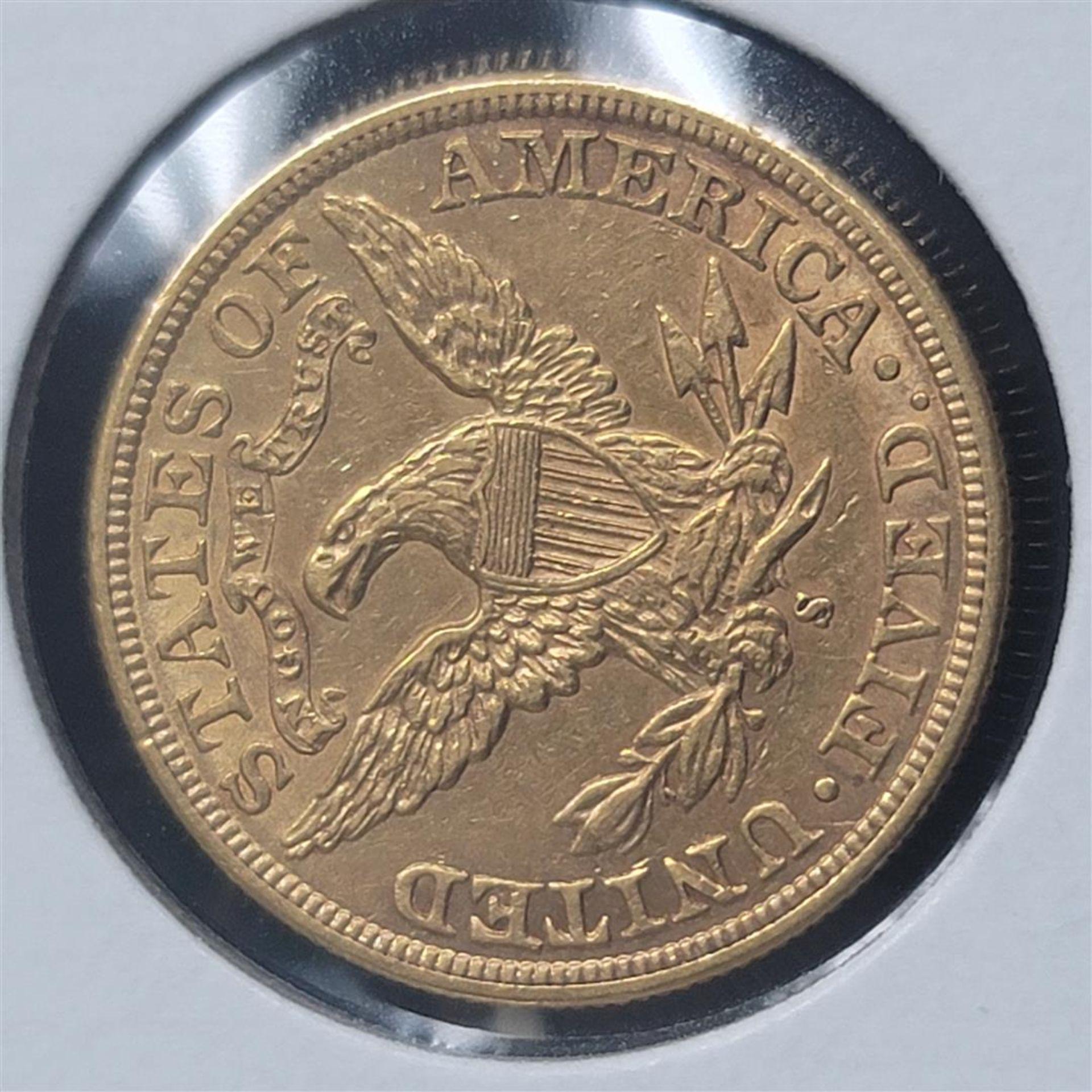 1898-S $5 Liberty Head Half Eagle AU - Image 3 of 4