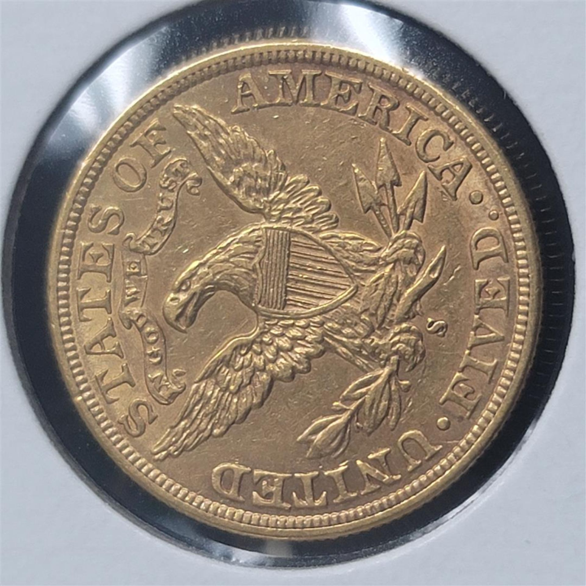 1898-S $5 Liberty Head Half Eagle AU - Image 4 of 4