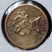 1880-S $5 Liberty Head Half Eagle C