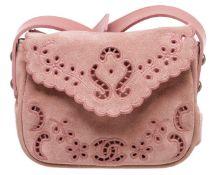 Chanel Pink Suede Paris-Edinburgh Mini Highland Messenger Bag