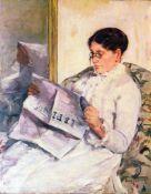 Mary Cassatt - When Reading Of Figaro