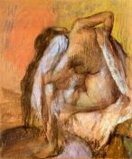 Edgar Degas - Seated Female Nude Drying Neck And Back
