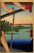 Hiroshige - Haneda Ferry and Benten Shrine