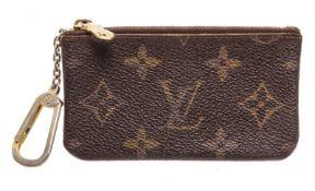 Louis Vuitton Brown Monogram Canvas Pochette Cles Wallet