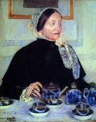 Mary Cassatt - Lady At The Tea Table 1883