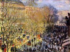 Claude Monet - Boulevard des Capucines in Paris