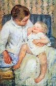 Mary Cassatt - Mother Washing The Tired Child