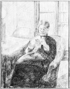 Mary Cassatt - An Old Woman Knitting