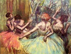 Edgar Degas - Four Dancers Behind The Scenes #2