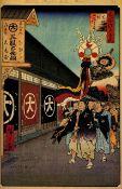 Hiroshige - Silk-Goods Lane