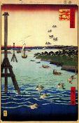 Hiroshige View of Shiba Coast