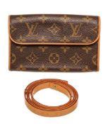 Louis Vuitton Brown Monogram Pochette Florentine Waist Bag