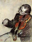 Edgar Degas - Study Of Violinist