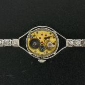 Antique Hamilton Platinum 17j 1.61 ctw Round Transitional Cut Diamond Ladies Wat