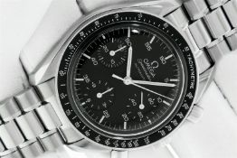 Omega Mens 39MM Speedmaster Automatic Stainless Steel Chronograph Watch