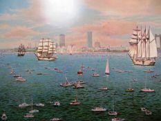 "Norman Gautreau ""Tall Ships Visit Boston - Bicentennial"""