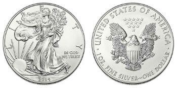 2014 American Silver Eagle .999 Fine Silver Dollar Coin