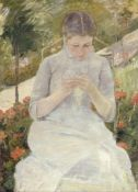 Cassatt - Girl in the Garden