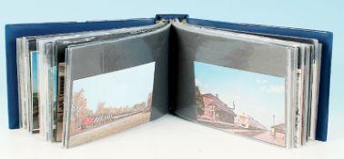 100 Eisenbahn Postkarten
