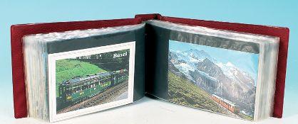 100 Eisenbahn + Tram Postkarten