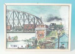 Bild eines Zuges auf Brücke