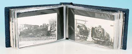 100 Ansichtskarten meist Dampfloks