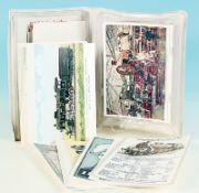 96 historische Lok-Postkarten in Farbe