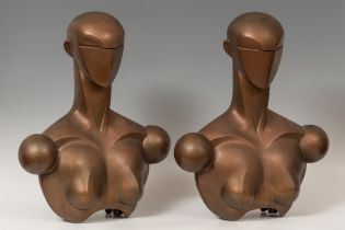 """ENRIC BUG (Port Bou, 1957). """"Couple of mannequins"""", 1983. Resin and fiberglass. It shows signs of"""