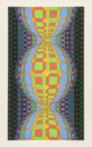 """VICTOR VASARELY (Pécs, Hungary, 1906 - Paris, 1997). """"Kaaba li"""", 1988. Lithograph, copy 186/250."""