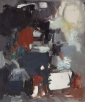 """SUSI LIZONDO (Valencia, 1962). """"Composition"""", 2014. Oil on canvas. Signed in the lower right corner."""